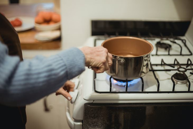 items you shouldn't clean with water Gas stove