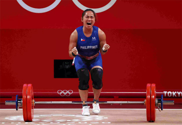 Most Powerful Moments of the 2020 Tokyo Olympics Hidilyn Diaz