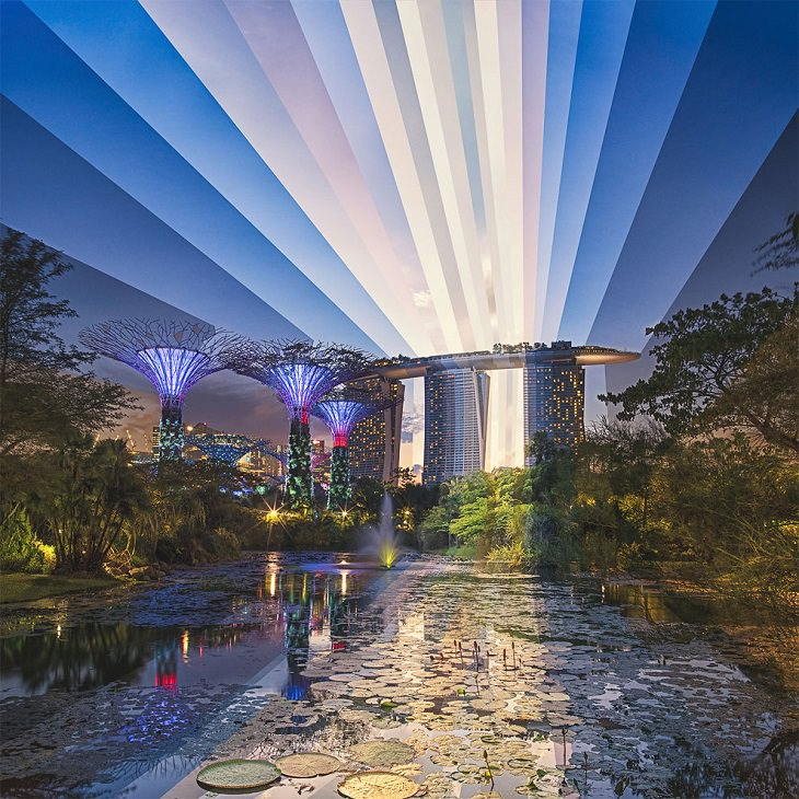 time lapse of landscapes