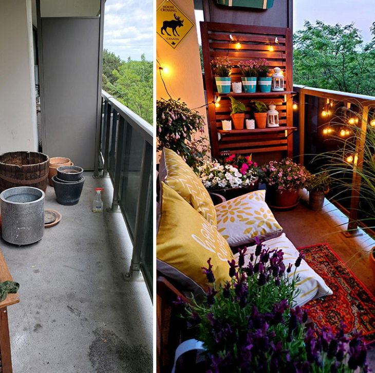 Quarantine Backyard Transformations balcony oasis