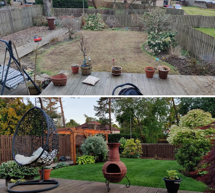 Quarantine Backyard Transformations neglected garden