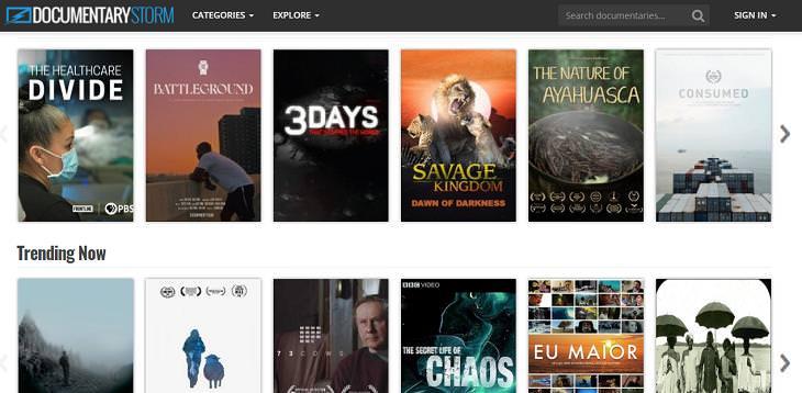 Free Websites, Documentary Storm