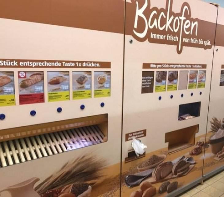 Peculiarities In Supermarkets Around the World bread dispenser