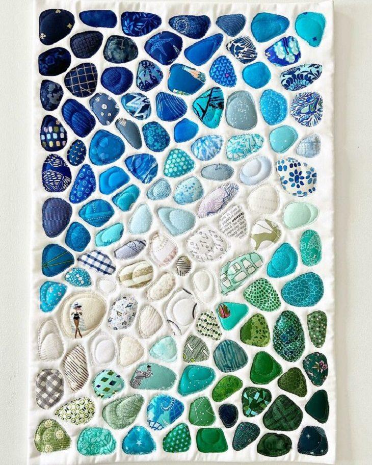 Quilt Art, Seaglass art quilt