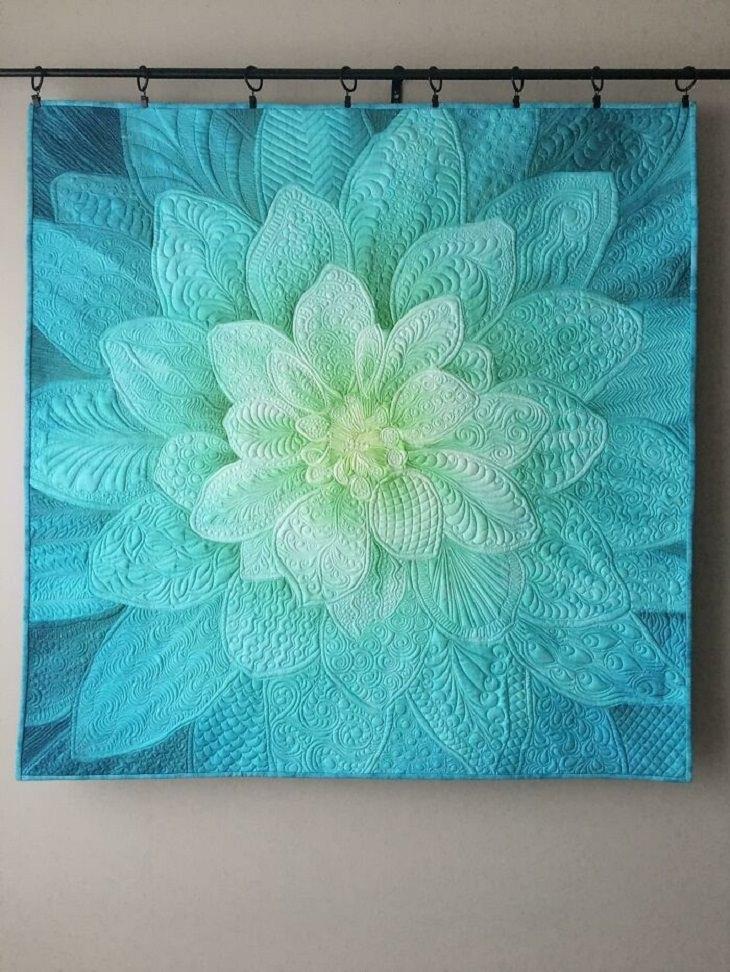 Quilt Art, flowery