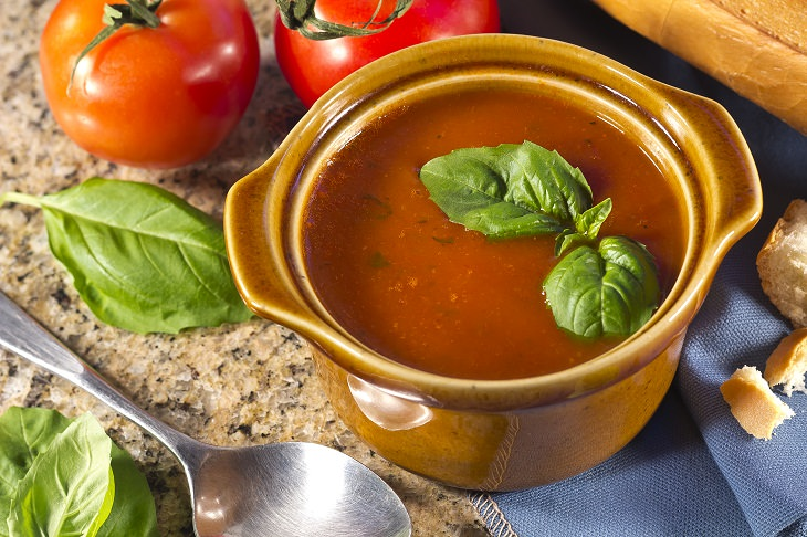 Summer Soups, Chilled Tomato and Basil Soup