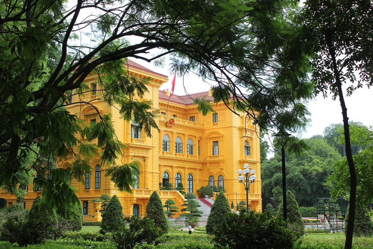 Colonial Architecture Presidential Palace, Hanoi