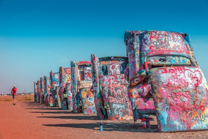 10 Essential Stops Along the Historic Route 66 Cadillac Ranch
