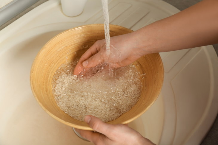 Tips For Shiny Hair rice water