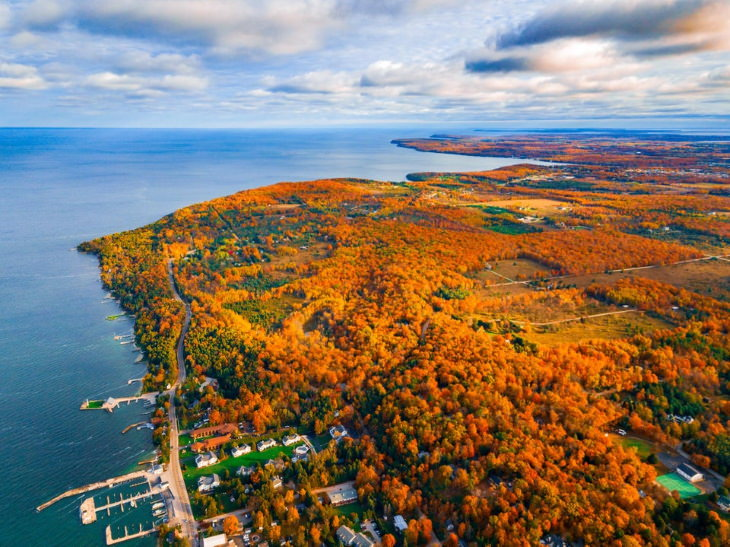Fall Foliage Destinations in the US Door County, Wisconsin