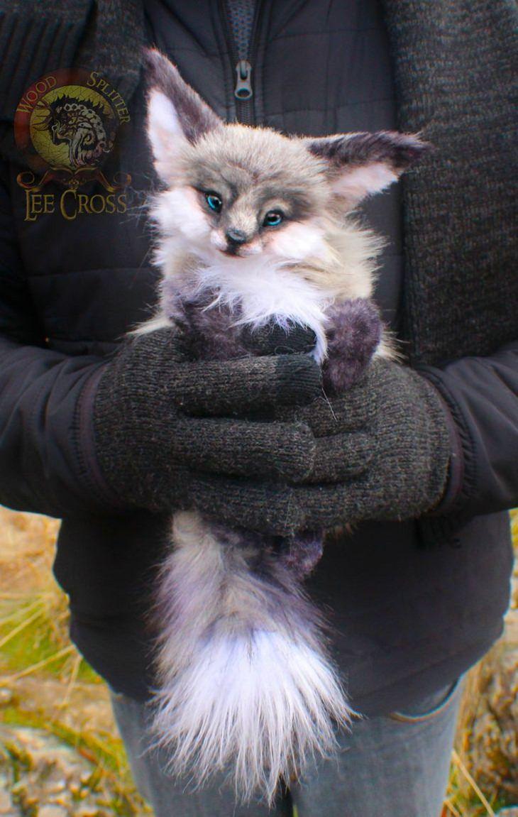 Cute Baby Animal Sculptures, Baby fox