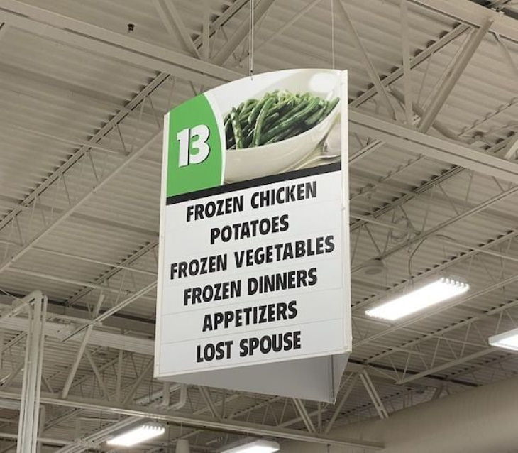 Funny Signs lost spouse