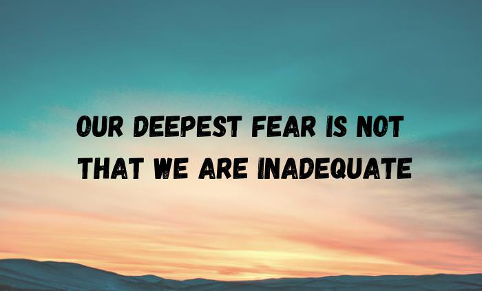 the fear by Marianne Williamson