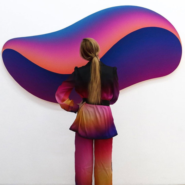 Matchwithart Outfits Matching Paintings Violet Void byJan Kalab(2021)