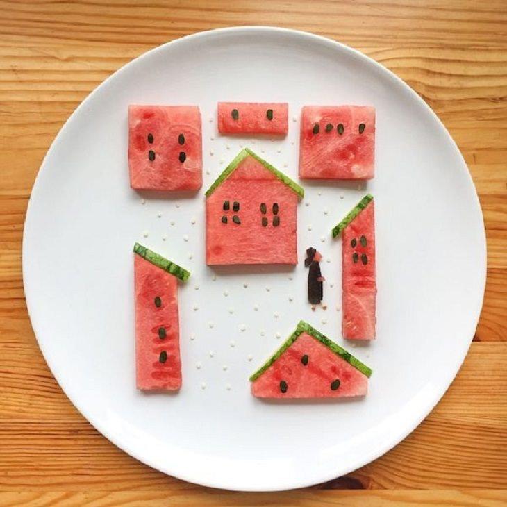 Food Art, watermelon
