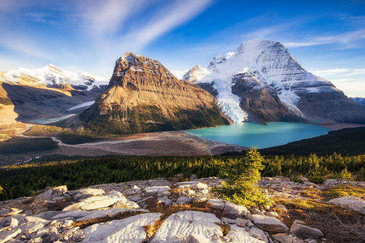 Scenic Mountain Landscapes by Marta Kulesza and Jack Bolshaw Berg Lake, Mount Robson Provincial Park, Canada