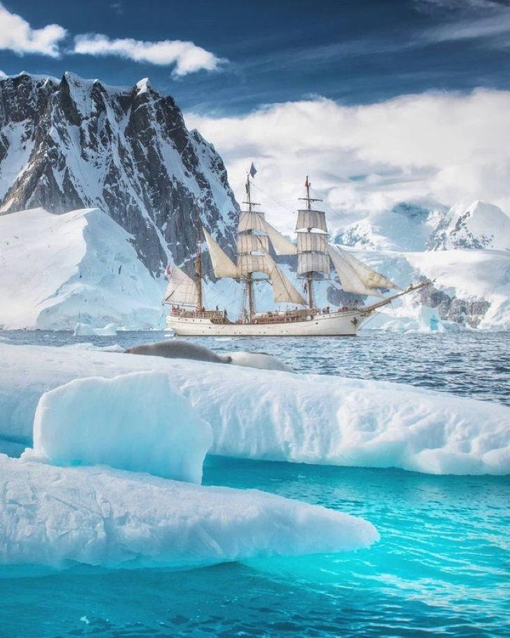 Natural and Cultural Phenomena The1911 barque called Europasailing throughAntarctica