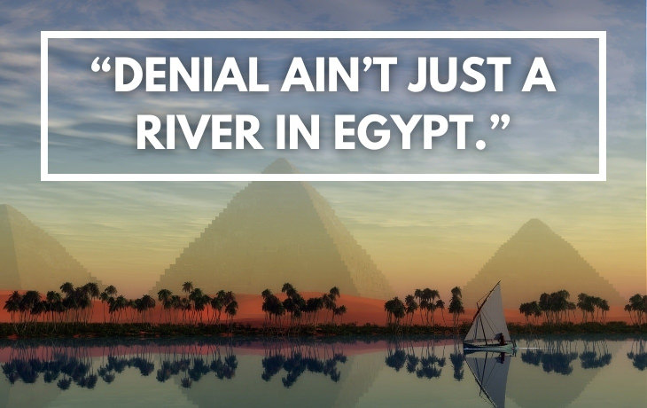 """Historical Puns """"Denial ain't just a river in Egypt."""""""