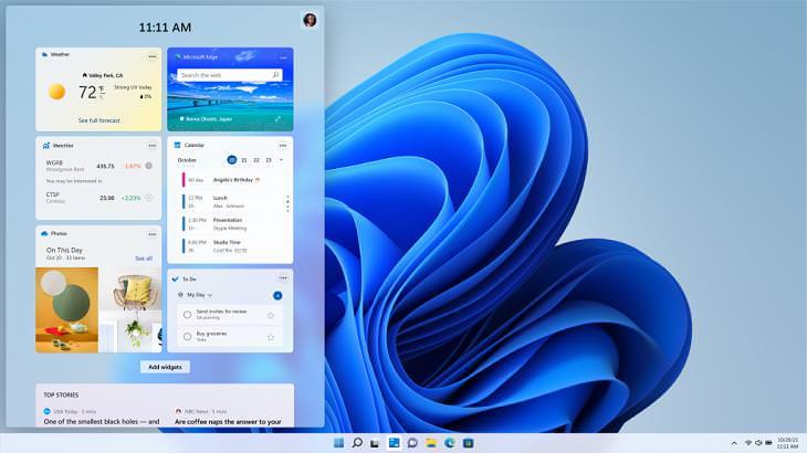 Windows 11 Features, Widgets