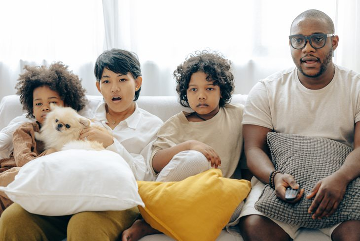 Habits That Make You Tired family watching TV