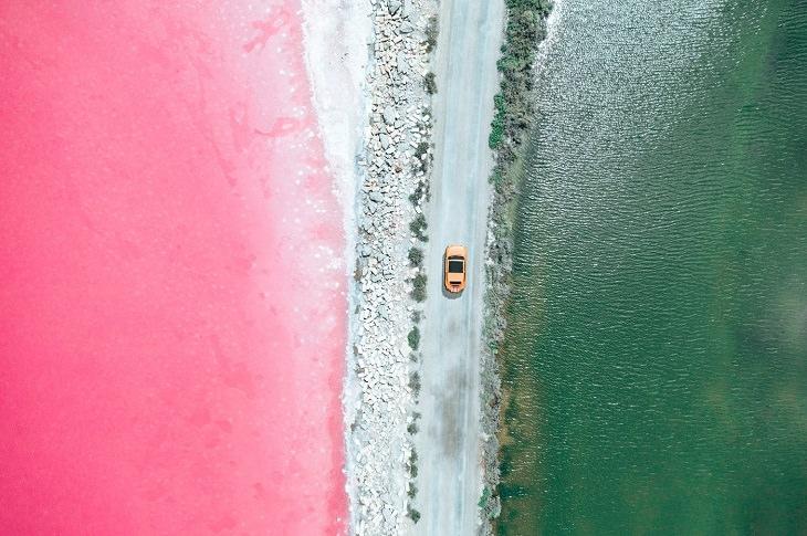 aerial photos of France salt fields