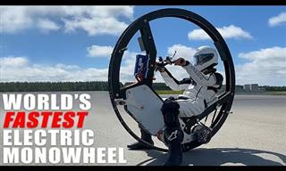 Would You Like to Ride The World's Fastest Monocycle?