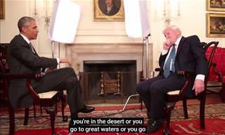 Barack Obama Interviews the Great David Attenborough