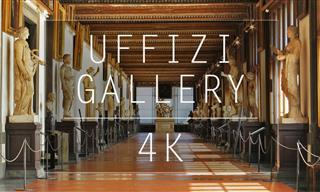 A 4K Tour of the Famous Uffizi Gallery in Florence