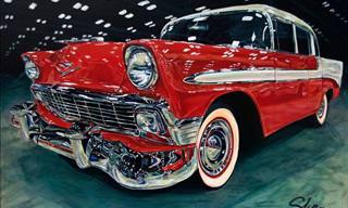 Stunning Art Depicting Classic Cars