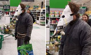 People That Created Hilarious But Genius Improvised PPE