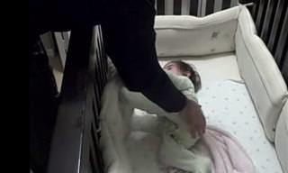 This Father Has the Cutest Way of Handling His Baby