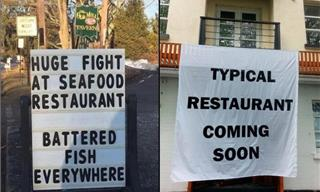 These Sidesplitting Signs Go From Funny to Outrageous