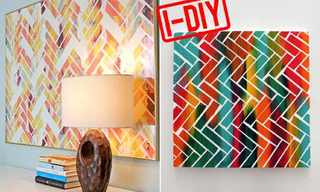 We're In Love With This DIY Art Project!