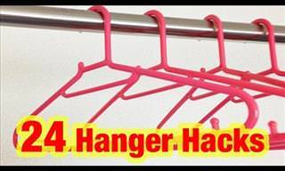 24 Hanger Hacks That'll Make Your Life a Whole Lot Easier