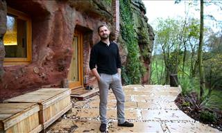 This Man Turned a 700-Year-Old-Cave into His Dream Home