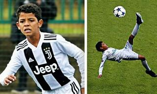 Ronaldo's Son is all Set to Sizzle the Football World