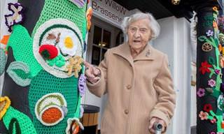 This 104 Year-Old Grandma, Adorned her Town with Crochet