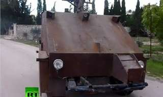Made in Syria - Homemade Tank!