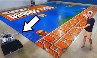 This Insane Domino Robot Broke a World Record!