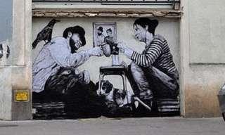 Street Art Gives Paris Walls a Humorous Makeover