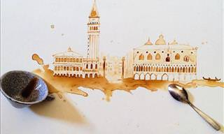 This Spilled Coffee Art Will Amaze You!