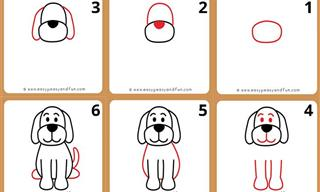 10 Easy and Fun Animals Drawing Tutorials For Kids and Beginners