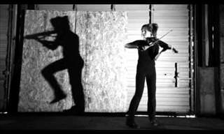 This Violinist Has an Incredible Duet With Her Shadow