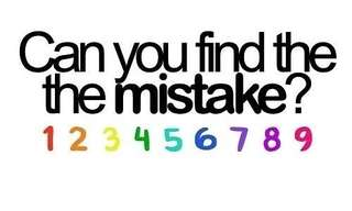 Can you find the Mistake??