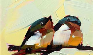 This Artist Uses Broad Strokes to Paint Birds