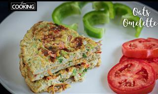Healthy Breakfast Idea – Delicious Oats Egg Omelet