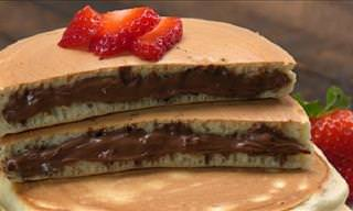 How to Make Tasty Nutella-Stuffed Pancakes