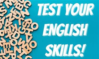 English Quiz: Test Your Vocabulary, Spelling and Grammar!