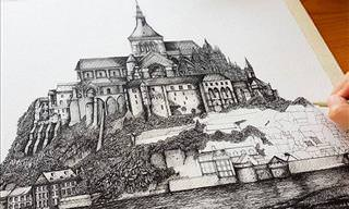 Stunning Ink Drawings of Famous Architecture