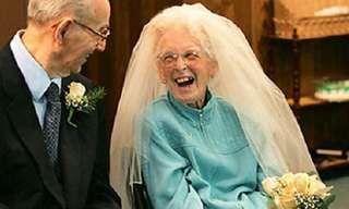 Inspiring Elderly Newlyweds